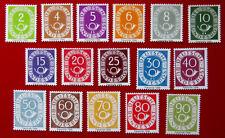 BRD Posthornsatz Michel 123-138 komplett Posthorn Faksimile Nachdruck