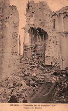 CARTOLINA DI MESSINA - TERREMOTO DEL 28 DICEMBRE 1908 INTERNO DEL DUOMO C5-41