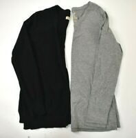 Faded Glory Women's Small Open Front Cardigan Sweater&Long Sleeve Shirt Lot of 2