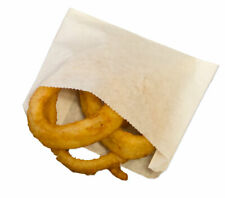 Small White Grease Resistant French Fry & Onion Ring Bags - 1,000 ct. (5.5x1x4)