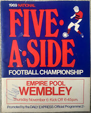 More details for daily express 5 a side football championships 1969 with signatures