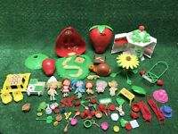 Huge Vintage Lot of Strawberry Shortcake Dolls and Accessories Early 1980's Rare