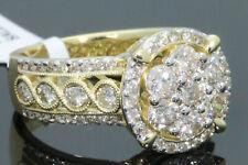 10K YELLOW GOLD 2.08 CARAT WOMEN REAL DIAMOND ENGAGEMENT RING WEDDING BRIDAL