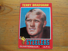 1971 TOPPS FOOTBALL TERRY BRADSHAW ROOKIE CARD # 156 EXMT CONDITION