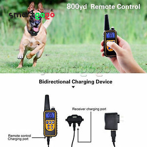 Rechargeable Dog Electric Training Collar Remote Bark Control Pet Trainer BSG