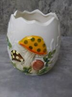Rare Vintage Sears Merry Mushroom Vase Planter Utensil Holder Japan 1978
