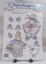 DAISY KINGDOM IRON-ON TRANSFERS 1990 Meadow Cousin 6410 Bunnies Goose Flowers