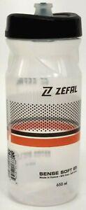 Zefal M65 Sense Water Bottle 22oz BPA Free Black/Orange/Clear
