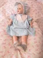 Vintage Composition 24 Inch Baby Doll Brown Sleep Eyes Unbranded