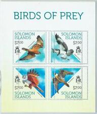 1390 - SOLOMON ISLANDS - ERROR, 2013 MISSPERF SHEET: Birds of prey, Fauna