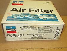 Mopar 2206376 air filter 1960-1980 slant six Plymouth Dodge 170, 198, 225 NOS