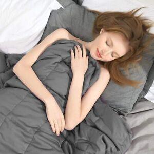 Weighted Blanket 152cm x 203cm Queen Size Reduce Stress 7kg Relax Deep Sleep ..