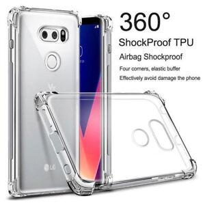 For LG G6 G7 Q6 V60 V30 V40 ThinQ v50Clear Shockproof 360° Bumper TPU Cover Case