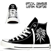 weed high life custom converse all star mens womens cannabis footwear dank dab