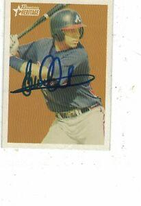 Elvis Andrus Atlanta Braves Rangers 2006 Bowman Heritage Authentic Autograph COA