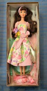 Avon Spring Tea Party Brunette Barbie Doll Special Edition Mattel 1997  #161771