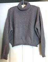 Carly Jean Chunky Knit Turtleneck Sweater, Gray, Medium MSRP $58.00