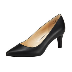 Women's Mid Kitten Heel Court Shoes Pointed Closed Toe Party Pumps Stilettos