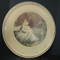 Beautiful Art Deco Signed Print Entitled The Debutante Signed Leonardi
