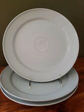 """Three Royal Copenhagen Gemma Dinner Plates Used 10 1/4"""" Gertrud Vasegaard"""