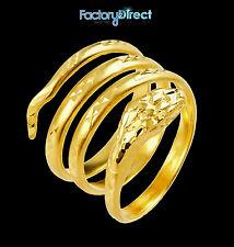 10K Gold Snake Coiled Ring 19 mm Long