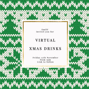 DIGITAL VIRTUAL FILE INVITE FOR ZOOM CHRISTMAS PARTY,DRINKS,XMAS JUMPER