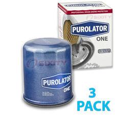 3 Pack Purolator ONE PL14612 Engine Oil Filter - 3x Long Life uc