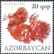 Azerbaijan 2012 YO Dragon/Greetings/Fortune/Lunar Zodiac/Animation 1v (n44401)