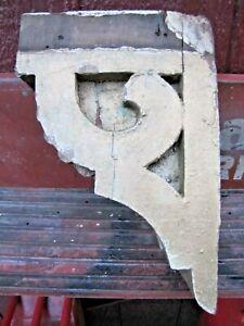 Antique Wooden Corbel Decorative Arts Architectural Hardware Element Old Gold