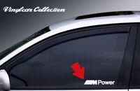 2X PEGATINAS M POWER CRISTALES STICKER DECAL BMW MOTORSPORT WINDOW GLASS E36 E39