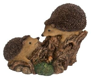 Playful Baby Hedgehogs Highly Detailed Garden Decoration