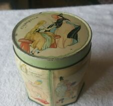 Early 1900s British Cookie Tin featuring the STORY OF CINDERELLA images & story