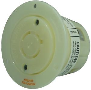 HUBBELL HBL2416 Locking Plug 20A 3P 250V Receptacle Welding Motor Gen Sets Compr