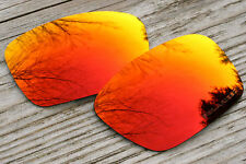 Dark Orange Fire Red Polarized Replacement Sunglass Lenses for Oakley Fuel Cell