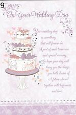 Congratulations on Your WEDDING DAY CARD ~ SENTIMENTAL VERSES ~ Choice of design