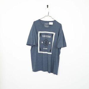 VOLCOM 1991 T Shirt Tee Big Logo Blue | XL