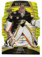 2019-20 UD ALLURE JOHN GIBSON YELLOW TAXI DIE-CUT CARD #46 (ANAHEIM DUCKS)