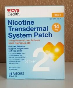 CVS Nicotine Transdermal System Patches, 14mg, 14 patches, Step 2 Exp 06/2021