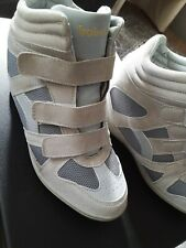 Babelae Sneaker Wedges Shoes Size 9  Grey Tan