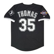 Frank Thomas Chicago White Sox 2005 Serie Mundial Alt Jersey Negro Hombre (M-2XL)