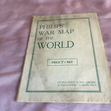 Philips antique War map of the world, front line 1940-1941