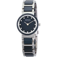 Bering Ceramic Quartz Movement Blue Dial Ladies Watch 10725-787