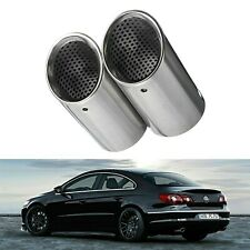 Chrome Silver Muffler Exhaust Pipe End Cover Tips For VW Passat B6 Eos CC Estate