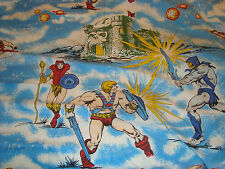 MASTERS OF THE UNIVERSE HE-MAN STUPENDO LENZUOLO X LETTO MATRIMONIALE 1983