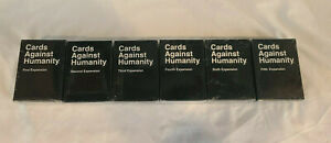 Cards Against Humanity Expansion Packs 1-6 - NEW