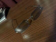 Mens Vintage Christian Dior Rimless Sunglasses Silver