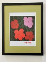 ANDY WARHOL AWESOME 1984 SIGNED FLOWERS PRINT MATTED TO BE FRAMED AT 11 X 14