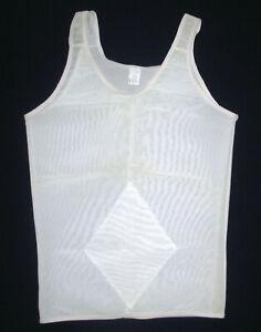 Tru-Health Mens sz L Slimming Compression Tank Top shaping slim shirt white USA
