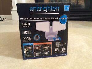 GE Enbrighten 2 In 1 LED Outdoor Flood Security Light, Motion Sensor, 2480 Lumen