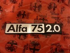 scritta alfa romeo alfa 75 2.0 rear badge